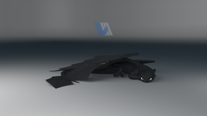 Night Fury Dragon Resting - Ver.2