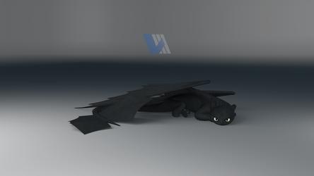 Night Fury Dragon Resting - Ver.2