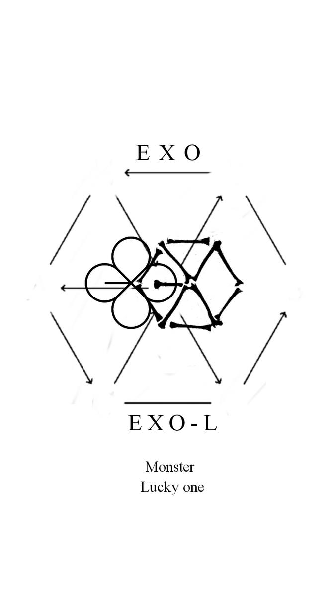 wallpaper exo logo 2016 white by stoneheartedhan on