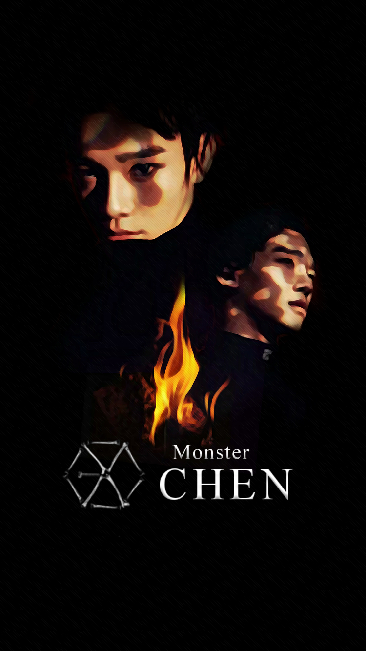Wallpaper] EXO 2016 Monster Teaser CHEN By StoneHeartedHan