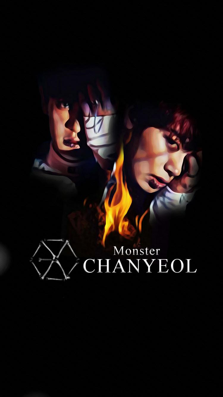 [Wallpaper] EXO 2016 Monster Teaser CHANYEOL by StoneHeartedHan on DeviantArt