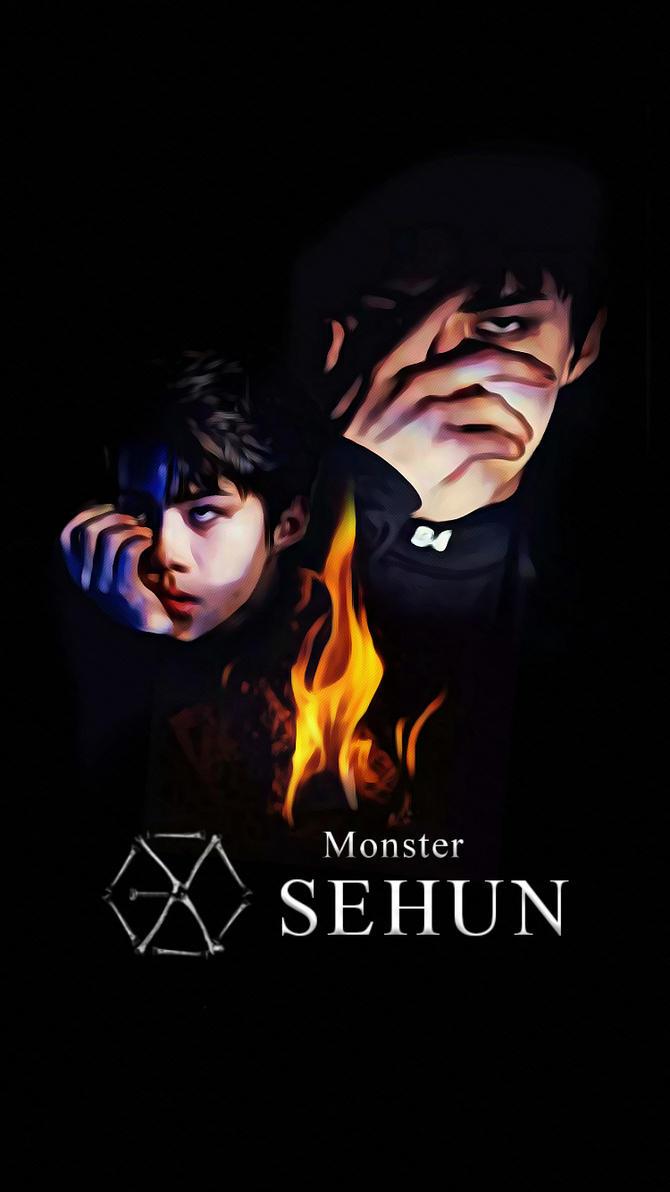 wallpaper exo 2016 monster teaser sehun by