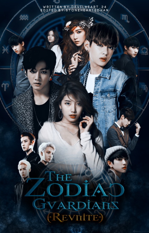 The Zodiac Guardians (Wattpad book cover) by StoneHeartedHan