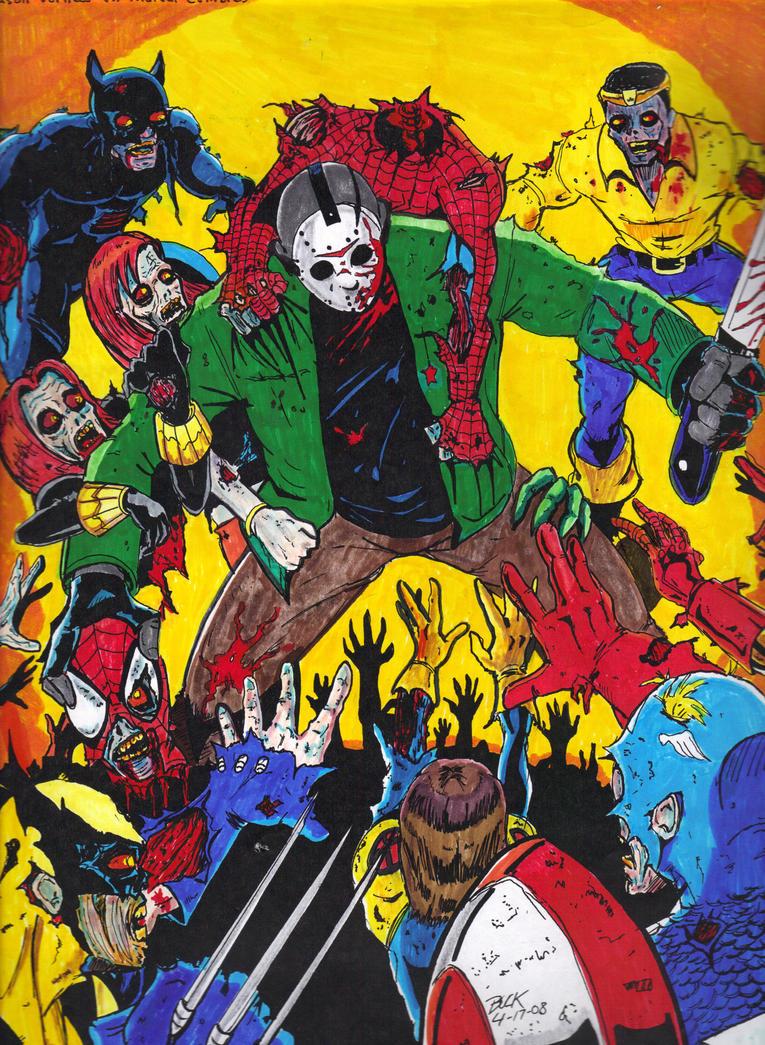 Marvel Zombie Art Jason vorhees vs marvel zombie Green Garden Spider