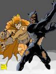 BLACK PANTHER vs CAT MAN