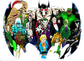 BATMAN'S ROGUES GALLERY by gagex07
