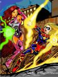 Starfire vs. Captain Marvel