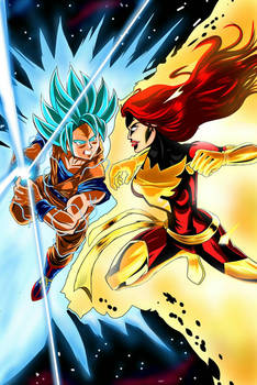 Super Saiyan God Goku vs. The Dark Phoenix redux