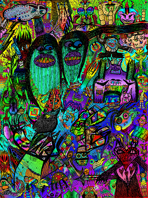 11x14' Monster Collage 4 Color by ColinMartinPWherman