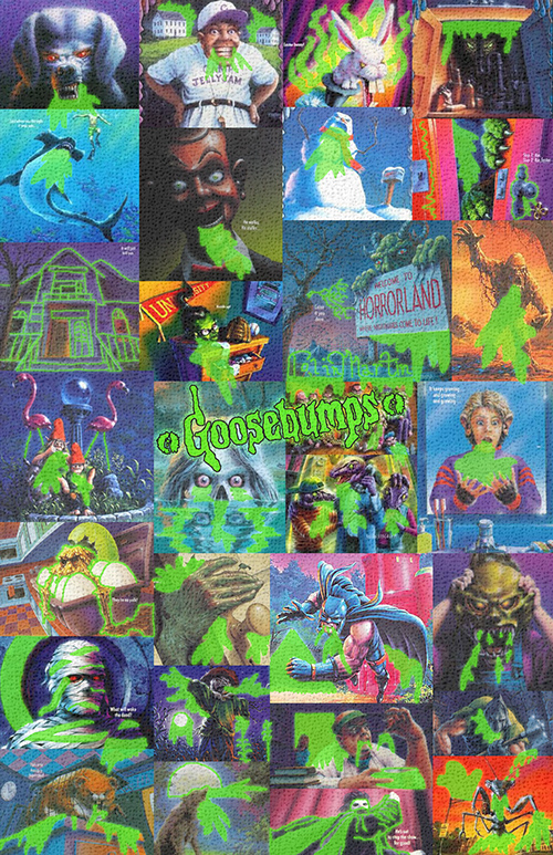goosebumps green slimy poster by colinmartinpwherman on