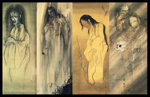 Japanese Yokai Ghost Scrolls by ColinMartinPWherman