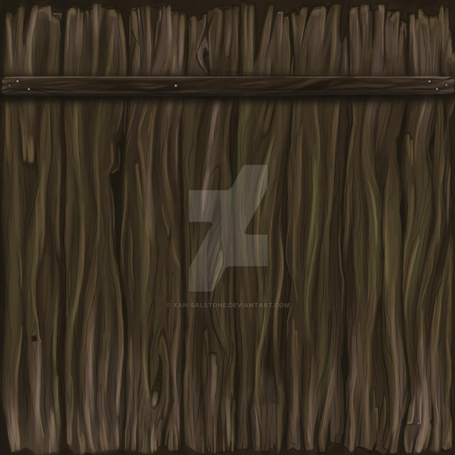 Handpainted Wooden Fence Texture by Xan-Salstone