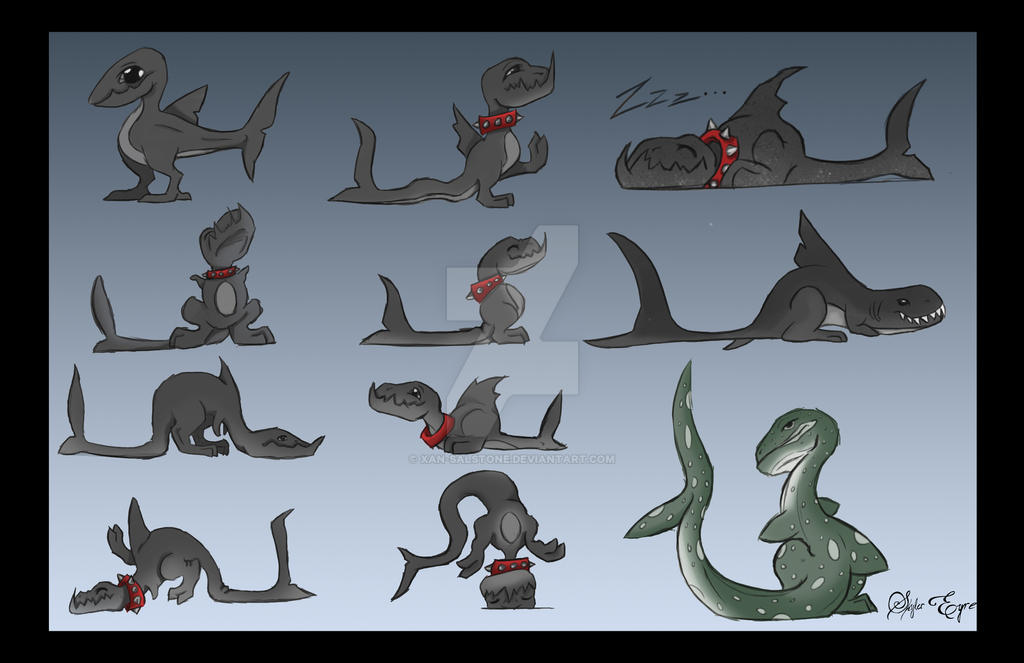 Shark Puppies by Xan-Salstone