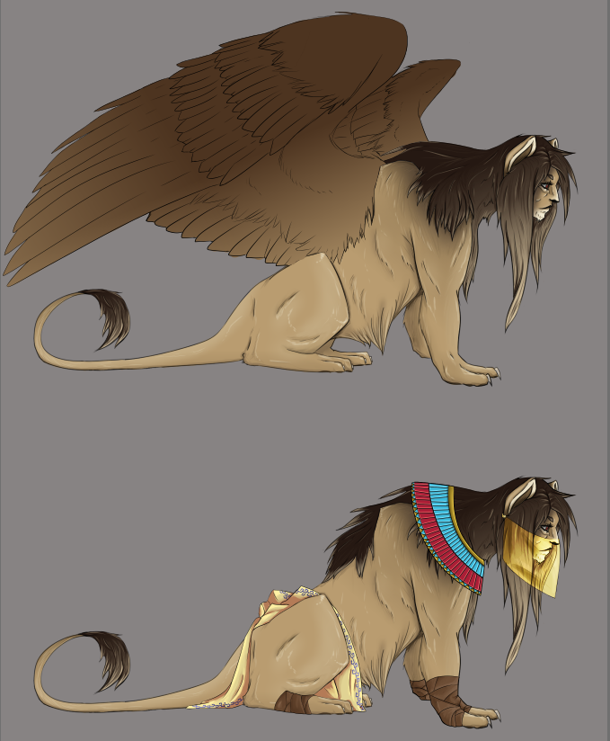 Lion Sphinx by Xan-Salstone