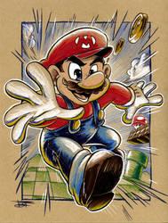 Super Mario by derrickfish