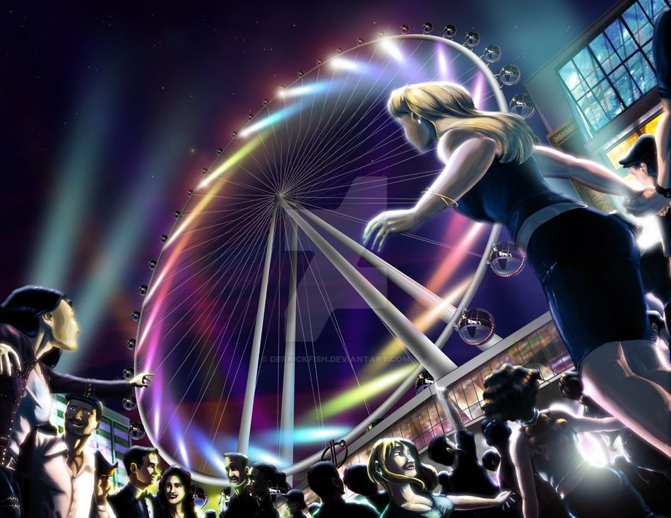 The VEGAS eye - Preliminary Illustration by derrickfish