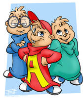 Alvin and the Chipmunks by derrickfish