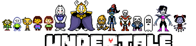Improved? Undertale overworld sprites. by Foxgroove