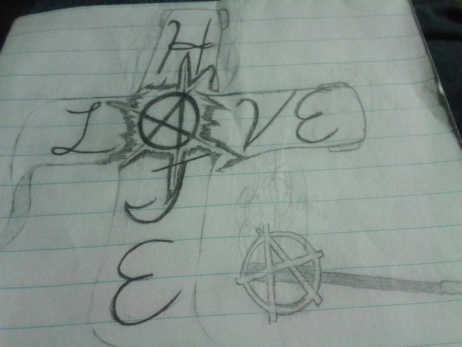 Love hate tattoo idea by alfpocalypse on deviantart for Love n hate tattoo
