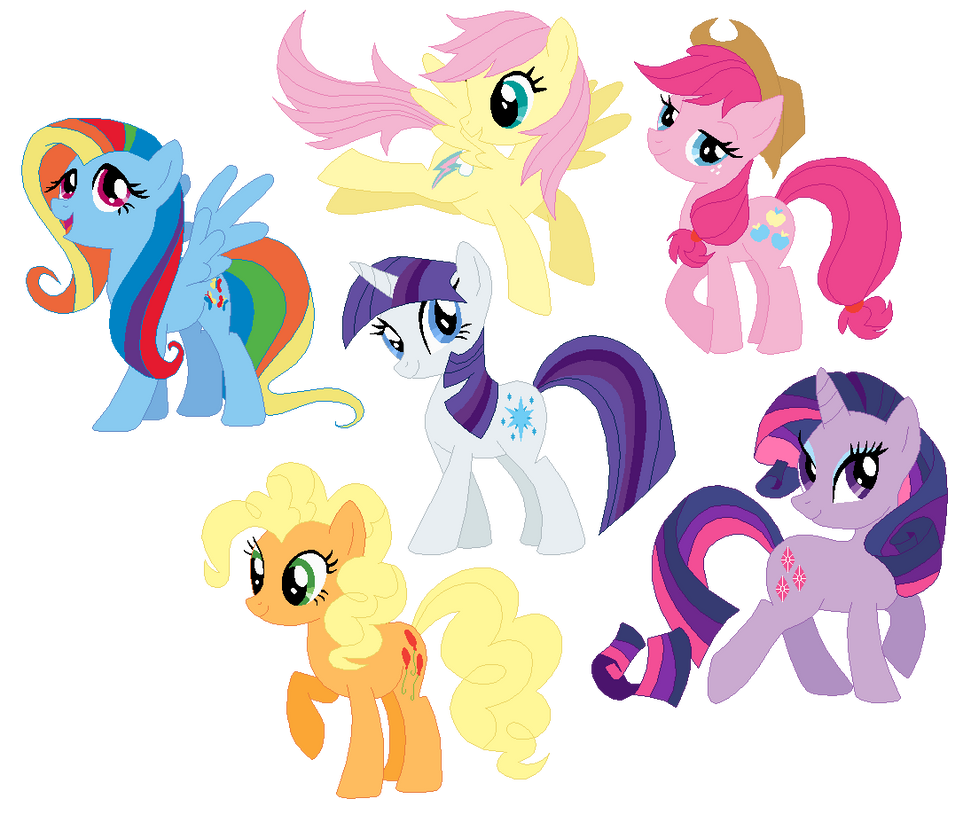 Mlp Mane 6 Pony Base Pictures To Pin On Pinterest PinsDaddy
