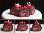 Chocolate Swiss Cake Miniature Clay