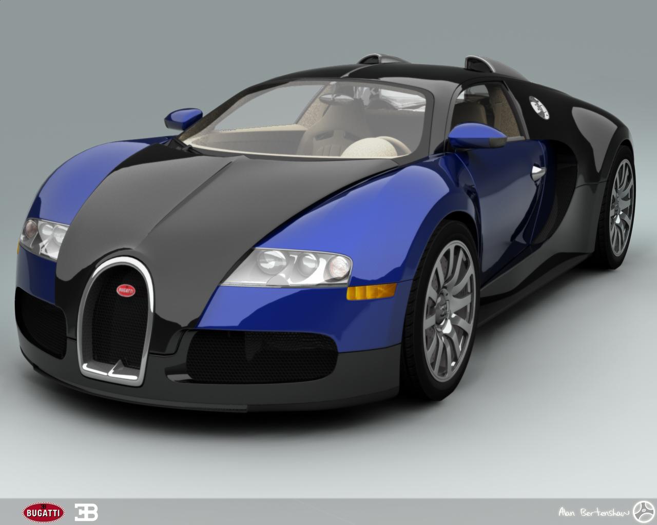 Bugatti Veyron - Blue by AfroAfroguy on DeviantArt