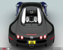 Bugatti Veyron Back by AfroAfroguy