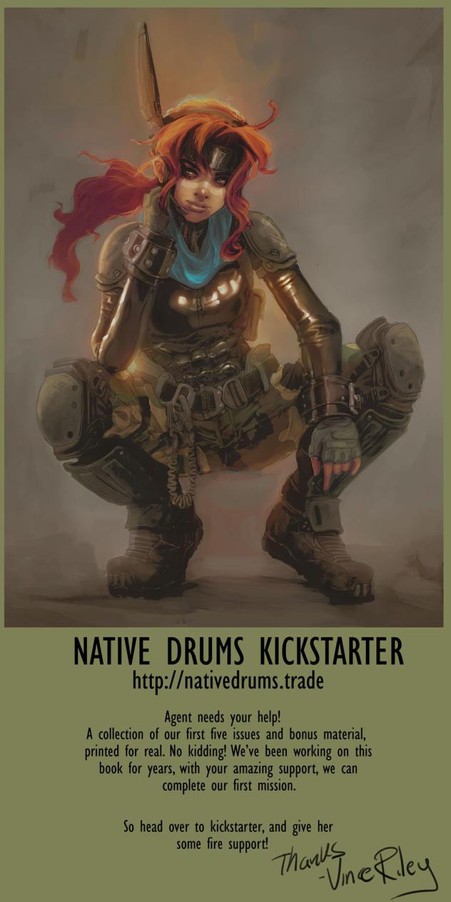 Kickstarter : Native Drums by punchyninja