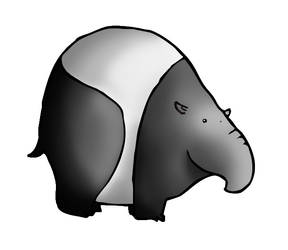 Fat tapir by Inarigreeneyes