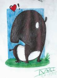 Little tapir by Inarigreeneyes