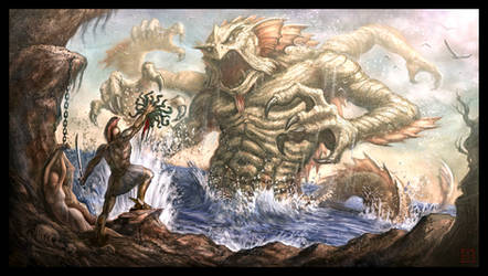 Perseus vs. the Kraken by VegasMike