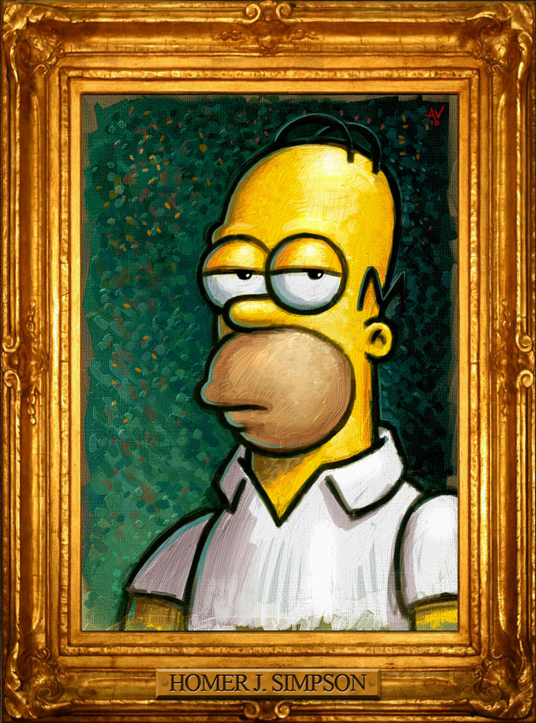 Homer Portrait by VegasMike