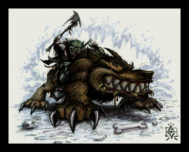 Anime Warg Rider by VegasMike on DeviantArt Warg Riders Drawings