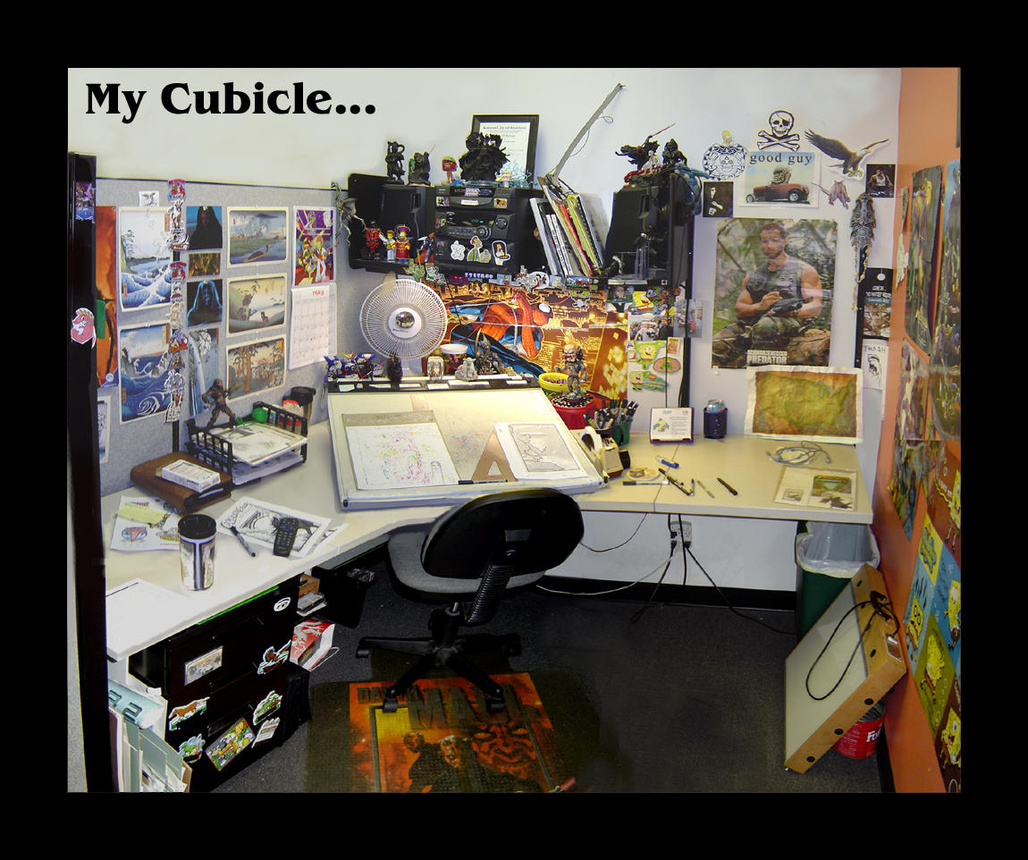 Cubicle Wallpaper My cubicle... by vegasmike: galleryhip.com/cubicle-wallpaper.html