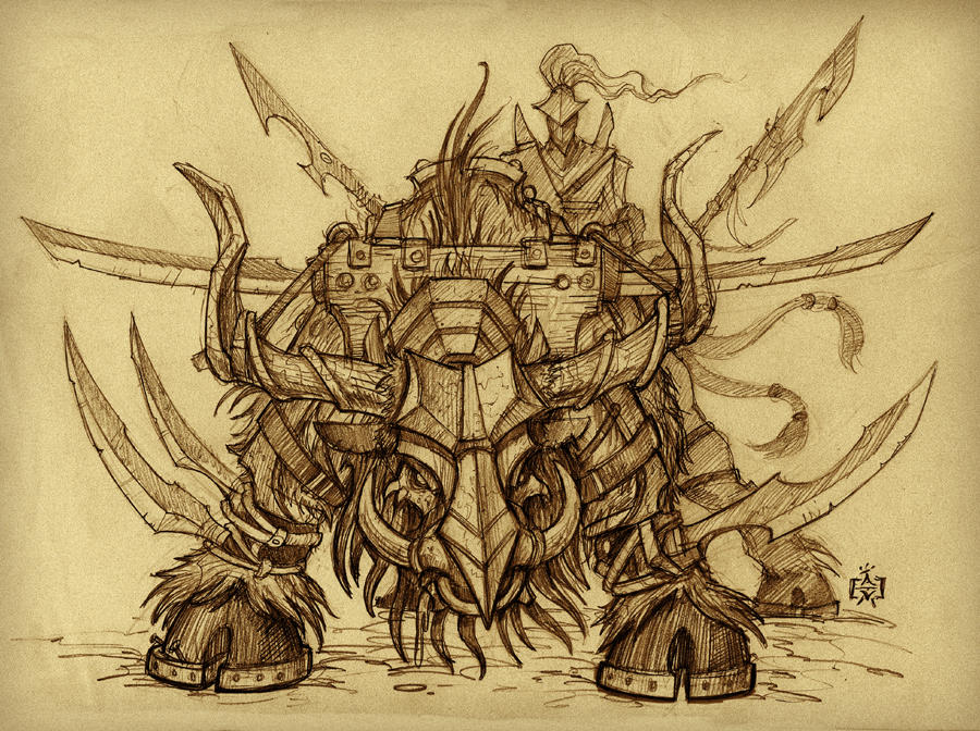 War Beast Sketch by VegasMike