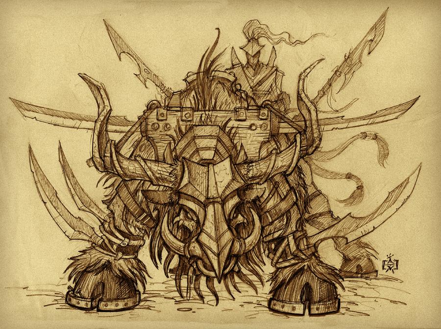 War Beast Sketch by VegasMike