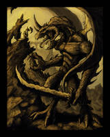Demon vs Borak Colored by VegasMike