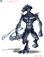Lizard Sketch Colored by VegasMike