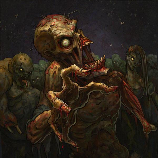Zombie Horde by VegasMike