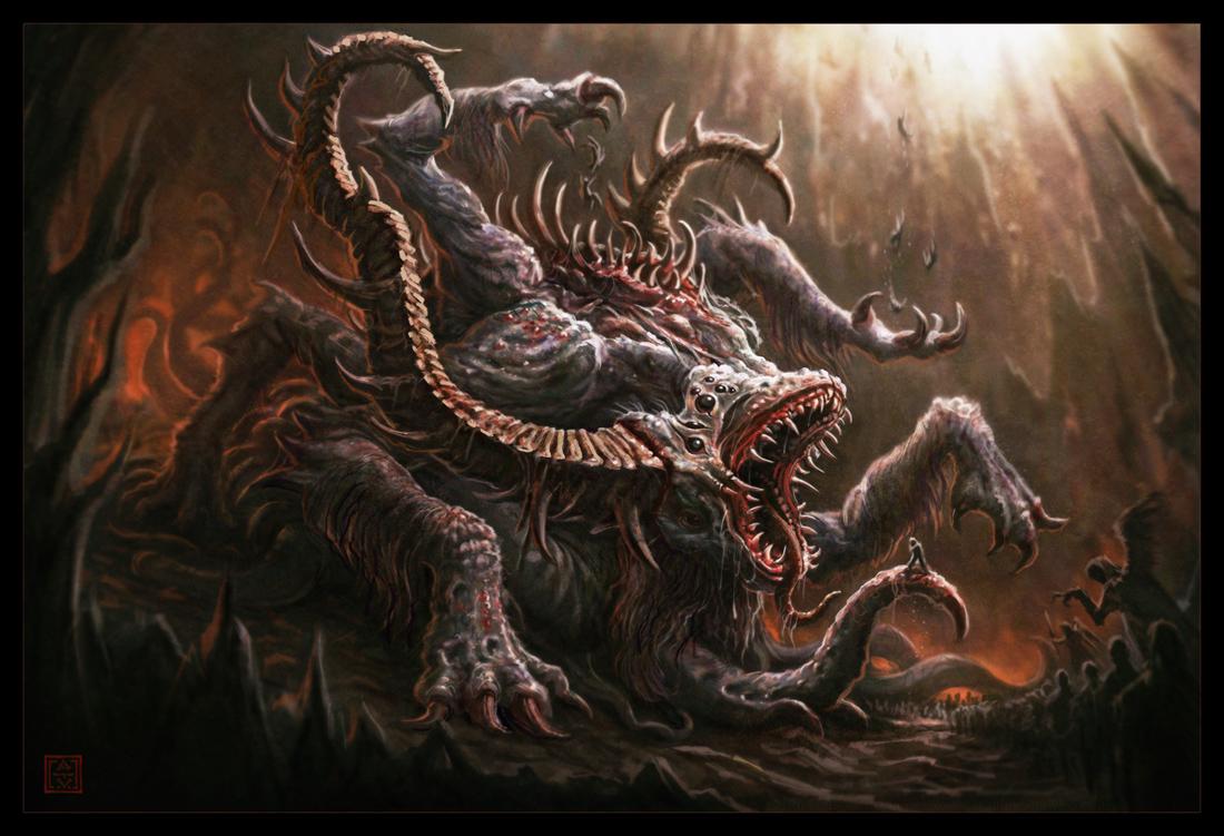 Hell art wallpaper