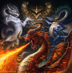 Dragon Clash Cover Art by VegasMike