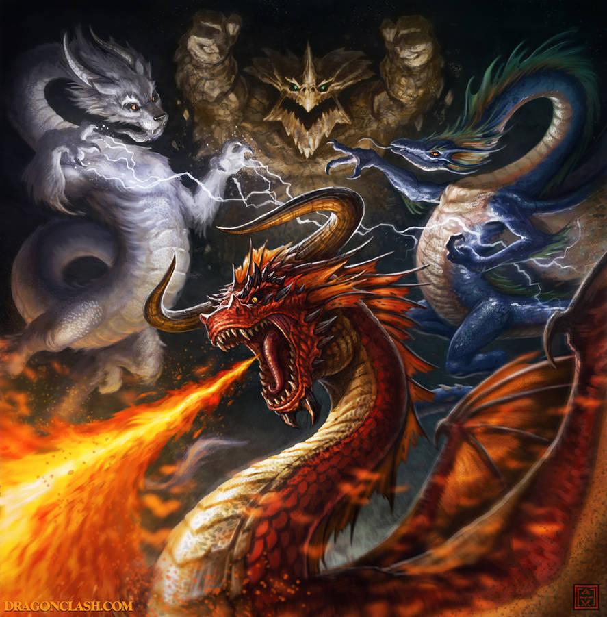 Dragon Clash Cover Art by VegasMike on DeviantArt