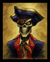 Skeleton Pirate Portrait by VegasMike