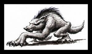 Creepin' Werewolf Sketch by VegasMike