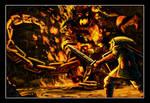 Link Vs. The Fire Boss