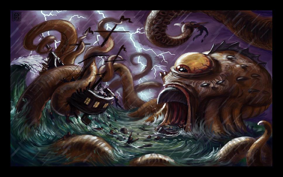 poseidon vs the kraken - photo #26