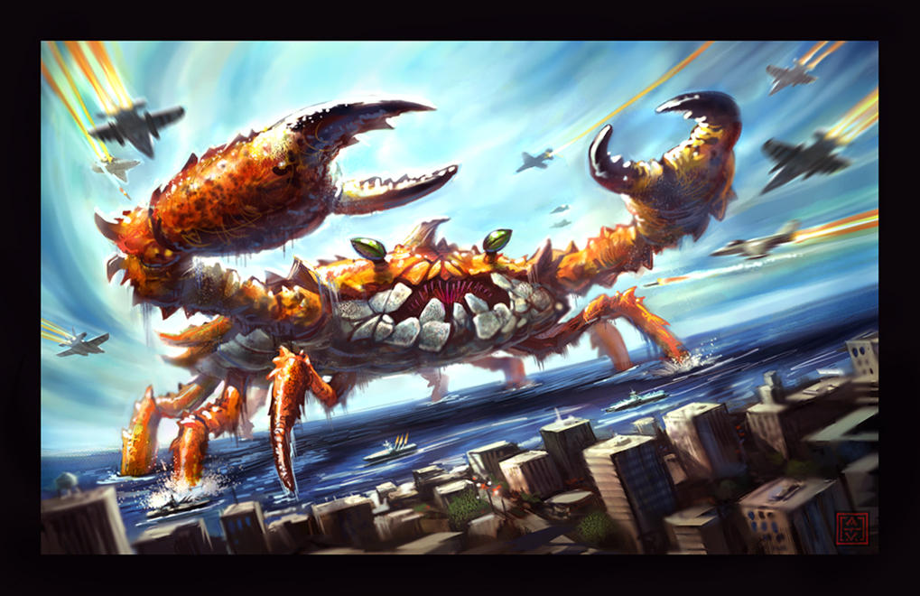 Incredible Giant Crab Redux by VegasMike