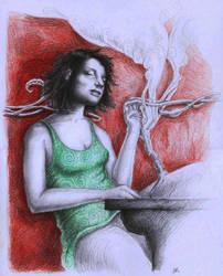 Absinth lady by Sosak