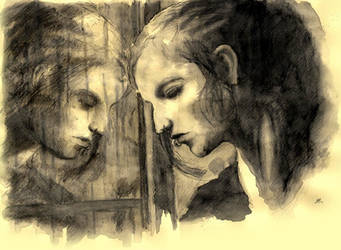 Against glass by Sosak