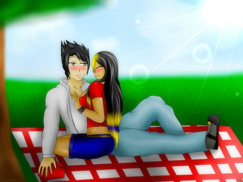 Nero X Mizu enjoying a picnic together by DragonWarrior25
